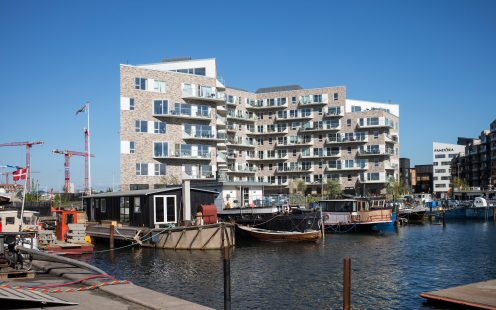 Apartment Building in Copenhagen, Mix of Facing Bricks W 450 Jern and W 447 Flint